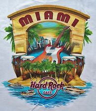 HARD ROCK CAFE MIAMI CITY TEE T-SHIRT SIZE ADULT X-LARGE - NEW WITH TAGS
