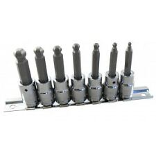 "BRITOOL HALLMARK MBEHS7 3/8"" Drive BALL-ENDED HEXAGON BIT SOCKET SET M3 - M10"