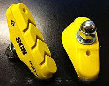 SCS Ceramic High Performance Brake Pad Shoes, Yellow, Fixie Fixed Gear Road Bike