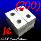 (200) Penny Size 2x2 Mylar Cardboard Coin Flips for Storage | 1 Cent Holder