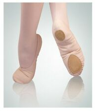 Body Wrappers 246A Adult Size 5.5M Peach Canvas Split Sole Ballet Slipper