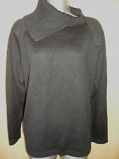 NEW LADIES GOOD QUALITY BLACK SWEATER WITH ZIPPED COWL NECK SIZE 20