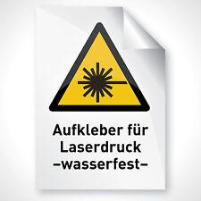 20 Outdoor Laser Copy Klebefolie wetterfest glanz weiß Premium Profi Qualität A4