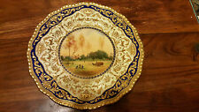 Stunning and Mint George Evans Hand Painted Cabinet Plate - After Corot - C1927