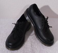 NEW Dr Martens Everley Boys 3-Eye Leather Oxford Shoes 3 Black MSRP$80