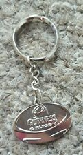 Official Guinness Rugby Silver Metal Keyring-Rugby Ball Shaped-Brand New/Unused