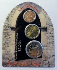 San Marino - St. Francis´ Gate - 2 Cent + 20 Cent + 2 Euro 2005 Proof Box