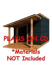"36"" x 48"" Dog House Plans - Lean To Roof - Pet Size To 100 lbs - Med. Dog - 13"