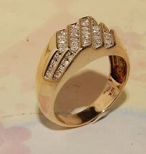 Diamond And  Gold  Mens Ring Jewelry  Brand New Ring Pinky Ring mens jewelry