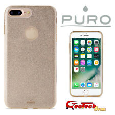 Puro SHINE COVER Custodia Anti-Shock Per iPhone 7 Case TPU Slim Glitter ORO GOLD