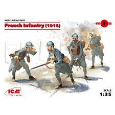 ICM 35691 FRENCH INFANTRY (1916) (4 FIGURES) (100% NEW MOLDS) 1:35