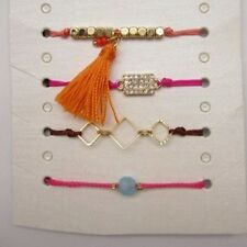Set of 4 Macrame Friendship Bracelets with Tassel