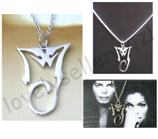 Classic Michael Jackson King Of Pop Pendant Collectible MJ SILVER Necklace