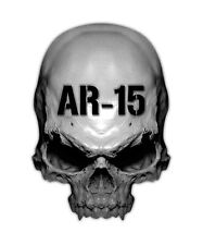 2 AR-15 Skull Decal - Assault Rifle AR15 Military Sticker Gun 223 5.56 stickers