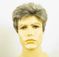 Perruque homme 100% cheveux naturel grise poivre et sel FRANCK 44