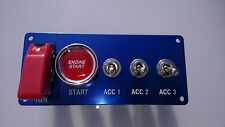Switch Panel Start Ignition Boat Rally F2 Marine HOT ROD Stock Kit Car A+3 Blue