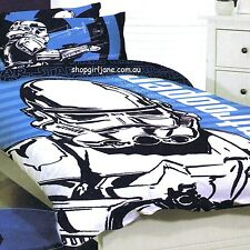 Star Wars - Large Storm Trooper - Disney - Queen Bed Quilt Doona Duvet Cover set