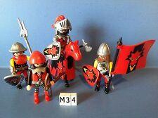 (M34) playmobil soldats du dragon rouge 3319 3269 3268