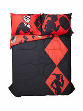 "DC Comics Harley Quinn Silhouette REVERSIBLE FULL/QUEEN Comforter 81""x86"" NEW"