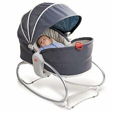 Tiny Love 3 In 1 Baby Rocker Napper Vibrating Bouncer Feeding Chair - Grey *NEW*
