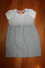 NWT Gymboree Play By Heart Size 7 Gray White Falling Dots Sweater Dress