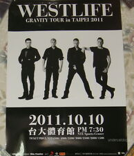 Westlife Gravity Live in Taipei Taiwan Promo Poster