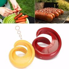 2 Tailles coupe saucisses fantaisie spirale barbecue légume cuter hot-dog