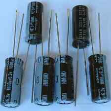 6x 1800uF 6.3v Nichicon HM Low-ESR Impedance 8mm radial Capacitors caps 105C