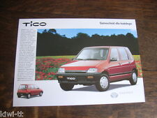 Daewoo Tico SX, Prospekt / Brochure / Depliant, PL, sehr selten!