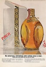 1965 Pinch Scotch Whisky Vintage Bottle PRINT AD