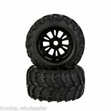 2X 1/8 Monster Car Wheel Rim and Tire 810006 for Traxxas HSP Tamiya HPI RC Car