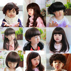 Fashion Baby Girl Boy Wig hair Toddler Child Brown Straight Curly Adjustment
