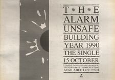 20/10/90 Pgn25 Advert: The Alarm unsafe Building Year 1990 The Single 7x11