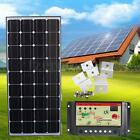 100W 12v Solar Panel Charging Kit 5m Cable 10A controller Brackets Camper Boat