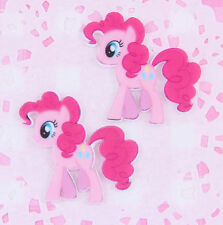5 x Pinkie Pie My Little Pony Laser Printed Flat Back Cabochons Decoden Kawai
