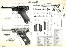 BIG! POSTER Of The German Nazi PO8 LUGER Pistol WW2 Pistole LQQK & BUY NOW!
