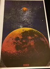 Rare Vintage Peter Max Psychedelic Moons Galaxy Stars Planets Space Art
