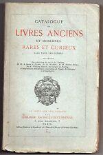 CATALOGUE DE LIVRES ANCIENS RARES ET CURIEUX 1869 BACHELIN-DEFLORENNE REVOLUTION