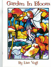 OOP & Rare GARDEN IN BLOOM Stained Glass Pattern Book Lisa Vogt 11 FULL SIZE