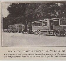 1927  --  TRAIN D AUTOBUS A TROLLEY DANS LE GARD  3B202