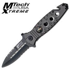 MTech  SWAT   Dagger Style Folder Knife-- GREY  HANDLE