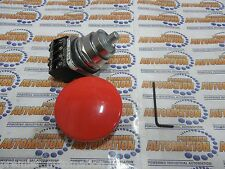 "52PA2V2A -- PUSHBUTTON, MTD, RED, 2 1/2"" PLASTIC,2 POS"