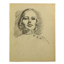 Retro Holloway Bristol salvaje Joven Moda Modelo Original Retrato Sketch