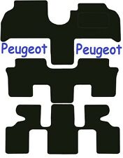 Tailored Deluxe Quality Car Mats Peugeot 807 2002-2010 ** Black **