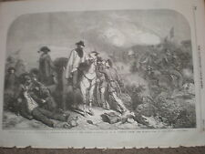Garibaldi at rome in 1849 from G H Thomas 1854 old print