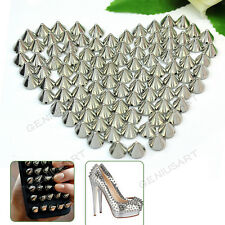 Wholesales 10mm Silver Round Cone Spike Stud Rivet Spots Punk Bag Leathercraft