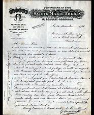 """LE BOUSCAT (33) QUINCAILLERIE FERRONNERIE """"SAINTE-MARIE Freres"""" en 1924"""