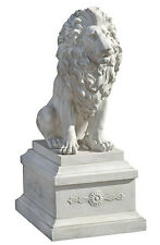 Lion of Palazzo Vecchio Florence Garden Sculpture Statue and Base replica