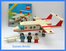 Lego Vintage Classic Town City - 6356 - Med Star Rescue Ambulance Plane- VGC