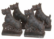 4 Four Levenger Cast Iron Scottish Terrier Bookends (2 pairs total)
